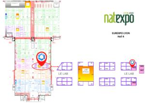 Stand Ipcube sur le Lab de Natexpo